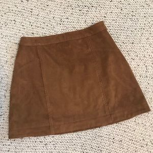 Abercrombie & Fitch Brown Mini Skirt